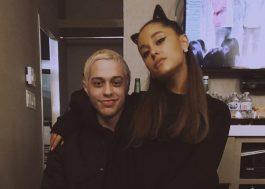 Ariana Grande tá com um porquinho de estimação e Pete Davidson faz tatuagem do pet <3