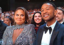 Chrissy Teigen vira meme no Emmy 2018!