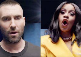 Maroon 5 pode dividir o show do Super Bowl com a Cardi B!
