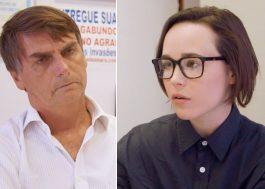 Ellen Page relembra sua entrevista com Bolsonaro e apoia a campanha do #EleNão
