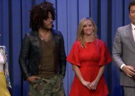 Zoë e Lenny Kravitz jogam 'adivinhe a música' contra Reese Witherspoon e Jimmy Fallon!