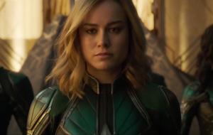 Brie Larson responde às criticas extremamente misóginas de que Capitã Marvel deveria sorrir mais