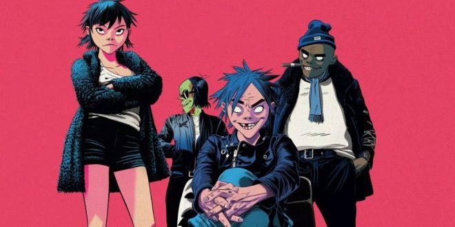 Imagem da banda digital Gorillaz (Divulgação)