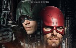The Flash e Arqueiro Verde trocam de lugar em foto de novo crossover