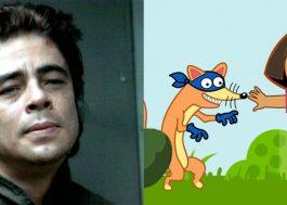 Benício del Toro será dublador do Sr. Raposo em live-action de Dora, a Aventureira <3