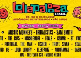 Saiba qual dia cada artista se apresenta no Lollapalooza Brasil 2019!