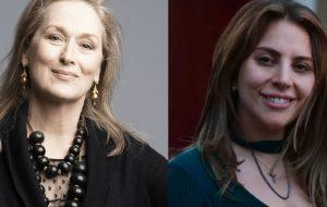 """Meryl Streep conta que assistiu Nasce Uma Estrela e dispara: """"Ninguém poderia fazer esse papel além de Gaga"""""""