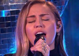 Miley Cyrus faz cover emotivo de no tears left to cry, da Ariana Grande; assista!