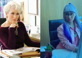 Nicki Minaj ou Miranda Priestly? A rapper interpretou a icônica personagem de O Diabo Veste Prada em vídeo!