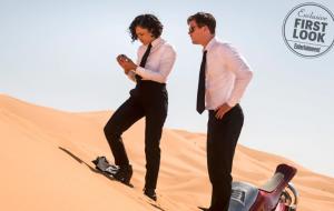 Novas fotos de MIB Internacional mostram Tessa Thompson e Chris Hemsworth em ação no deserto; vem ver!