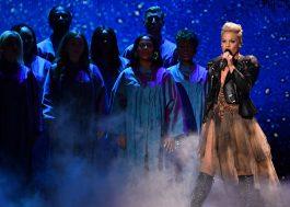 """P!nk fecha o BRIT Awards 2019 com """"chuva"""" de hinos"""
