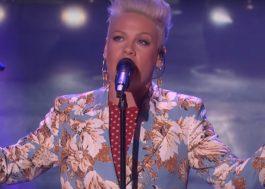 Pink canta pela primeira vez na TV seu single &#8220;Walk Me Home&#8221;, assista! <3