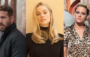 Ryan Reynolds, Kristen Stewart e Margot Robbie foram alguns dos atores mais bem pagos de 2019; vem ver a lista!