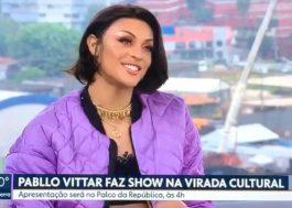 Atração da Virada Cultural, Pabllo Vittar fala ao SPTV sobre luta contra homofobia