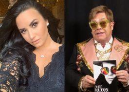 "Demi Lovato assiste ""Rocketman"" e manda mensagem emocionada para Elton John"