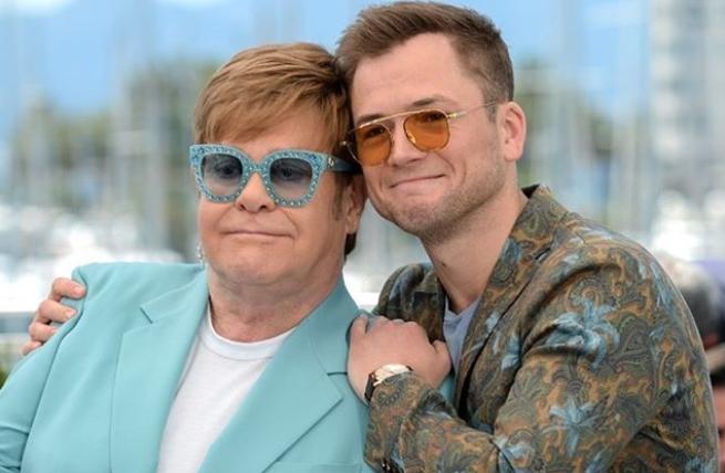 Elton John e Taron Egerton no festival de Cannes em 2019 (Foto: Getty Images)