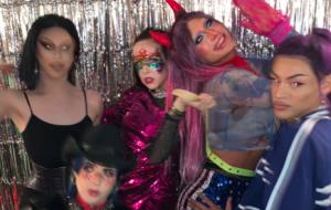 Pabllo Vittar + Aquaria + Allie X + Biblegirl numa foto? Vem ver esse encontro!