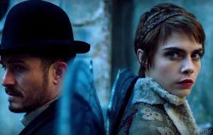 "Teaser: Cara Delevingne e Orlando Bloom vivem casal na série de fantasia ""Carnival Row"""