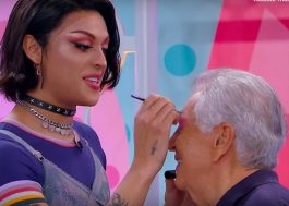Pabllo Vittar maquia Carlos Alberto de Nóbrega e ensina gírias LGBT no Programa da Maisa!