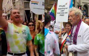 Sam Smith e Ian McKellen se jogam na parada LGBTQ+ de Londres!