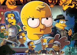 """""""Os Simpsons"""" faz paródia de """"Stranger Things"""" e """"A Forma da Água"""" em pôster de episódio de Halloween"""