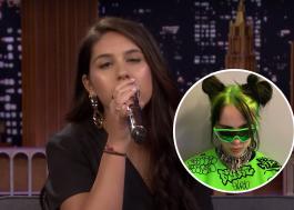 Alessia Cara topa desafio e imita Billie EIlish no programa de Jimmy Fallon