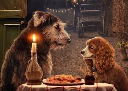 """Disney lança pôster oficial de """"A Dama e o Vagabundo"""" com cena clássica"""