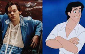 "Harry Styles recusou papel de príncipe Eric no live-action de ""A Pequena Sereia"", diz revista"