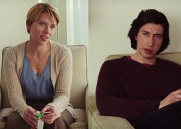 """Scarlett Johansson e Adam Driver dão sua visão do casamento em trailers de """"Marriage Story"""""""