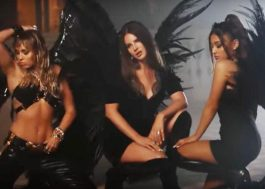 "Ariana Grande, Miley Cyrus e Lana Del Rey se divertem nos bastidores do clipe de ""Don't Call Me Angel"""