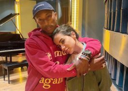 Música nova? Anitta e Pharrell Williams posam em estúdio