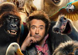 """Robert Downey Jr. está cercado de animais em pôster de """"Dolittle"""""""