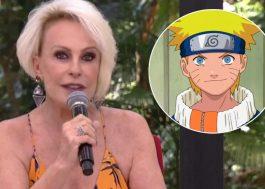 """Gente?? Ana Maria Braga abre o Mais Você com abertura de """"Naruto"""""""