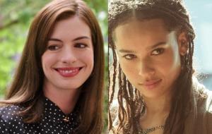 """Anne Hathaway dá os parabéns a Zoë Kravitz por Mulher Gato: """"Papel de uma vida"""""""