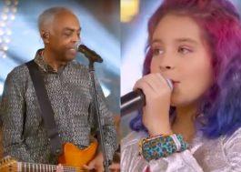"""Gilberto Gil canta com sua neta no programa """"SóTocaTop"""" em homenagem ao Dia das Crianças"""