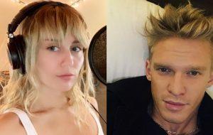 Miley Cyrus e Cody Simpson são vistos aos beijos