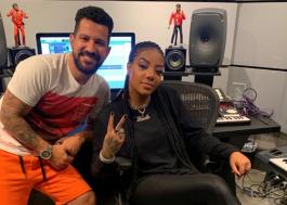 Ludmilla passa a noite em estúdio gravando com o hitmaker Dennis DJ