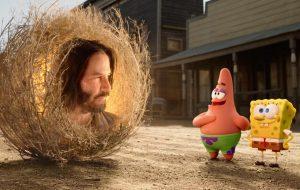 """Bob Esponja recebe conselhos de Keanu Reeves no trailer de """"O Incrível Resgate"""""""