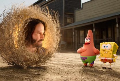 Keanu Reeves e Bob Esponja!