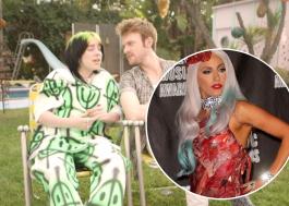 Billie Eilish e Finneas zoam vestido de carne de Lady Gaga no VMA de 2010