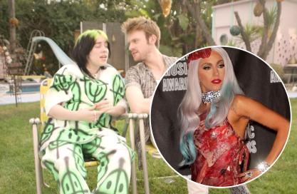Billie e Finneas zoam vestido da Gaga