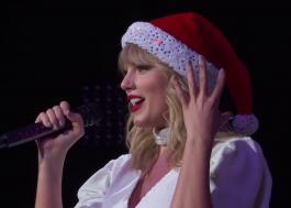"""Taylor Swift faz primeira apresentação ao vivo de """"Christmas Tree Farm"""" no Jingle Bell Ball"""