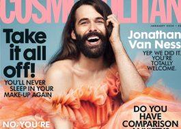 Jonathan Van Ness se torna a primeira pessoa não-binária a estampar capa da Cosmopolitan UK!