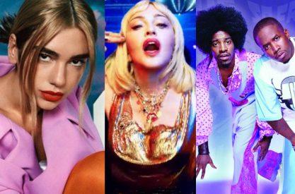 Dua Lipa toda inspirada em Madonna e Outkast