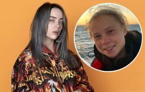 """""""Me sinto honrada ao ser comparada a ela"""", diz Billie Eilish sobre Greta Thunberg"""