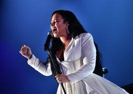 """Demi Lovato retorna aos palcos com apresentação de """"Anyone"""" durante o Grammy"""