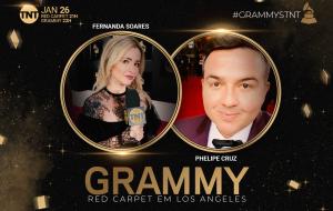 Phelipe Cruz e Fernanda Soares vão estar no primeiro tapete vermelho do Grammy na TNT