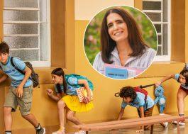 """Malu Mader aparece como nova professora em foto inédita de """"Turma da Mônica: Lições"""""""
