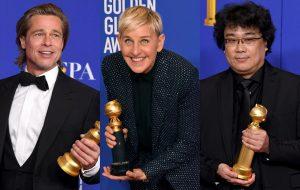 """""""Era Uma Vez em… Hollywood"""", Ellen DeGeneres e mais: os grandes vencedores do Golden Globe 2020"""