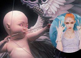 Grimes cria redes sociais para seu bebê e posta vídeo bizarro em 3D
